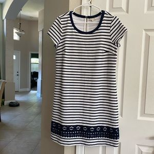 Maison Jules - Navy and White striped dress - M
